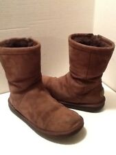UGGS AUSTRALIA WOMEN'S BROWN SUEDE ANKLE BOOTS SIZE 8