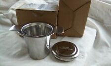 Two stainless steel tea strainer filters
