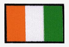 Patch brodé à coudre écusson patche drapeau COTE D'IVOIRE 70 x 45mm