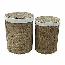 Seagrass Round Laundry Basket