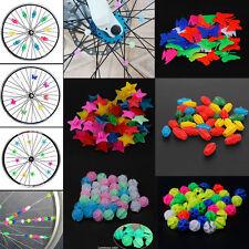 Bicycle Bike Wheel Plastic Spoke Bead Children Kids Clip Colored Decoration 36ps