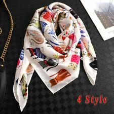 Sciarpa di seta da donna Foulard Stampa classica da donna Sciarpa di foulard Sciarpa a catena di moda Sciarpa quadrata larga Scialle avvolto