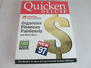 Sealed Quicken Deluxe complete 97 Vintage Financial Software in Retail Box
