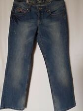 WOMENS JEANS ESPRIT SLIM CROP STRETCH SIZE 10/28 LEG 26 NWT RRP $89.95 FREE POST