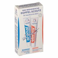 Aronal and Elmex DAY/NIGHT Duo toothpaste -Made in Germany-TRAVEL SIZE