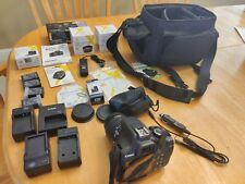 Huge lot Canon EOS Rebel t6 camera accessories macro telephoto lens chargers bag