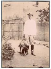 Madagascar, Tananarive, Robert de Juise Vintage citrate print. Chef de Bureau à