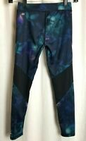 adidas womens workout leggings size S blue black