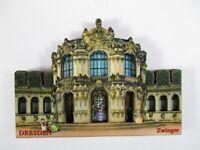 Dresde Zwinger Madera Recuerdo Imán, Germany Alemania, Nuevo