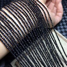 """Natural Stone 5pcs/lot Black Spinel Rondelle Shape Faceted Beads 2-3mm 15"""""""