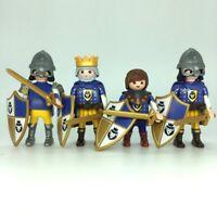 Playmobil 4 chevaliers bleus du roi