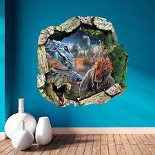 Jurassic World Park Dinosaur 3D Removable Wall Sticker Decal Kids Room Decor Art