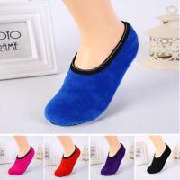 Women Men Low Cut Winter Warm Home Indoor Non Slip Fleece Floor Slippers Socks