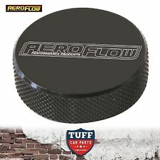 "Aeroflow Billet Black Tall Profile Air Filter Cleaner Nut 1/4"" UNC Female New"
