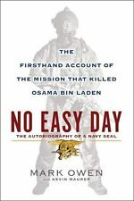 NO EASY DAY by Mark Owen hardcover book FREE SHIPPING navy seal iraq war