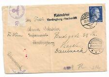 Auslandsbrief Wien 22.10.41 nach Dänemark OKW Zensur Hamburg Kassebrev
