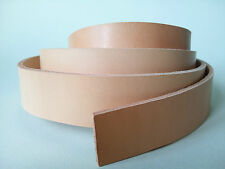 """50"""" LONG natural 2-2.4mm THICK BRIDLE / BUTT LEATHER STRAP VEG TAN cow hide"""