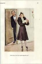 Años 30 risque dibujos animados Howard Baer Año Nuevo regalo sólo bromeando sobre el abrigo de visón