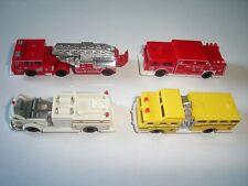AMERICAN FIRE ENGINES MODEL CARS SET 1:160 N KINDER SURPRISE PLASTIC MINIATURES