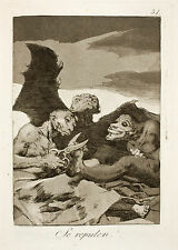 Goya Prints:The Witchcraft Caprichos - Set 2: 3 Fine Art Prints