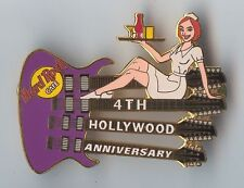 Hard Rock Cafe Hollywood 4th Anniversary Waitress Pin