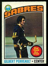 1976 77 OPC O PEE CHEE #180 GILBERT PERREAULT EX-NM BUFFALO SABRES HOCKEY CARD