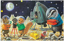 Racey Helps - Landing on the Moon - MEDICI POSTCARDS