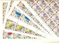 USSR 1977...n° 4429-33...MNH...YT 31€..HISTORY OF THE POSTAL SERVICE.(5 SHEETS)