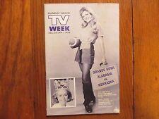 Dec.-1971 Lancaster Pa TV Week (MARGO LYNN JOHNSON/MONTY  HALL/LET'S MAKE A DEAL