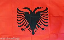 "ALBANIA BUDGET FLAG small 9""x6"" GREAT FOR CRAFTS ALBANIAN"