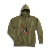 Travis scott jordan hoodie olive/grey