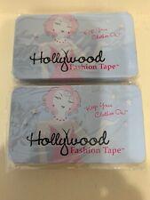2x Hollywood Fashion Tape Double-Stick Apparel Tape Tin Box 100 Pcs Total