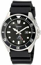 Casio Men's Watch Stainless Steel Case Quartz Duro Black Dial Diver Plastic Resi