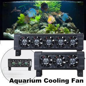 3/5 Fans Adjustable Aquarium Water Cooling Fan Fish Tank Cold Wind Chiller  UK!