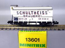 """Minitrix 13601; Bierwagen """"Schultheiss Brauerei"""" K.P.E.V., in OVP /E487"""