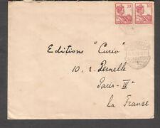 Netherlands Indies 1926 cover Soerabaja Bezoekt De Jaarbeurs cancel to Paris