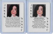 BOTH STARZ BEHIND BARZ ~ MICHAEL JACKSON PLAYING CARDS LOT ~ MUG SHOT ~ THRILLER