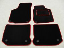 VW Golf MK4 1997-04 Fully Tailored Deluxe Car Mats in Black with Red Trim.