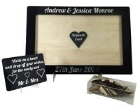 Wedding or Anniversary Drop Box, Guest Book, Black and Silver, Personalised