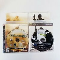 LOT OF 2 CALL OF DUTY GAMES PS3 MODERN WARFARE 2 & 3 Complete in Box