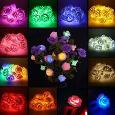 Fairy String Lights Rose Flower 20 LED Battery Operated Decorative Home Party ##