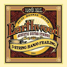 Ernie Ball Earthwood 5-string Banjo Bronze Loop End Frailing Set,010 -024 - 2061