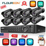 8CH 1080P AHD DVR 3000TVL In/Outdoor Night Vision 2MP IP Camera Security System