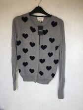 Da Donna Manica Lunga Grosso Cuore Lavorato A Maglia Stampa Cardigan Sweater