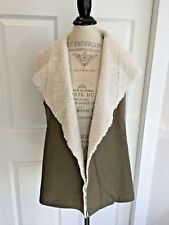 Anthropologie NWT Faux Shearling Vest L Soft Warm