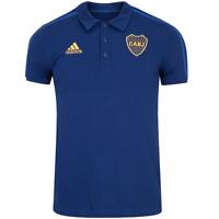 Boca Juniors Soccer Football Polo Trip Jersey Shirt - 2021 2022 Adidas Argentina