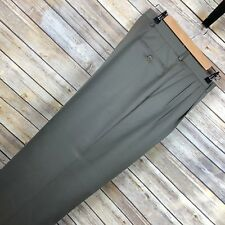 ZANELLA Mens Dress Pants Size 35 Actual 35x33 Light Brown Wool ALTER Italy