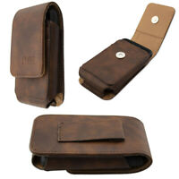 caseroxx Leather bag with belt loop for Dexcom G6 Receiver in brown made of genu