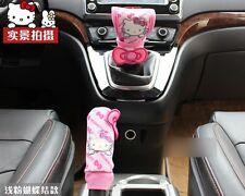 2 Pcs/set Handbrake Gears Cover Hello Kitty Styling Car Accessories Interior 2