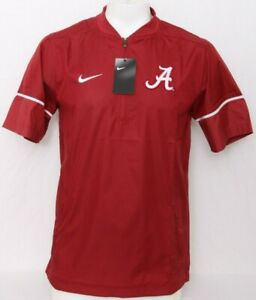 New Alabama Crimson Tide Nike Football Sideline Short Sleeve Hot Jacket Men's XL